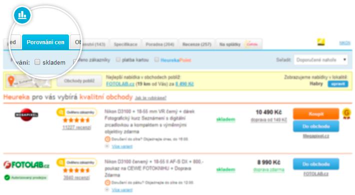 4ad5d082c68 Porovnání cen ukazuje cenové nabídky z různých e-shopů